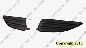 Fog Lamp Cover Front Passenger Side Matt-Black Without Spoiler Type Toyota Matrix 2009-2013