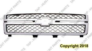 Grille Matt-Dk Gray With Chrome Moudling 2500/3500 Chevrolet Silverado 2011-2014