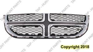 Grille Black With Chrome Moulding Dodge Grand Caravan 2011-2016