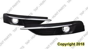 Fog Light Bezel Front Passenger Side With Chrome Moulding Sedan/Convertible Chrysler 200 2011-2014