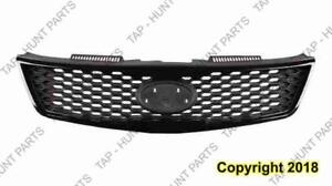 Grille Matt-Black Partial Painted Silver Gray (Koup) Kia Forte  2010-2013