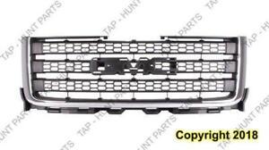 Grille Matt-Dk Gray With Chrome Moulding 2500/3500 GMC Sierra 2011-2014