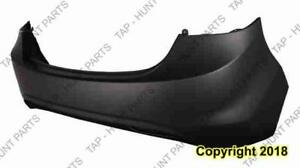 Bumper Rear Primed Sedan (Usa Built) Capa Hyundai Elantra 2011-2013
