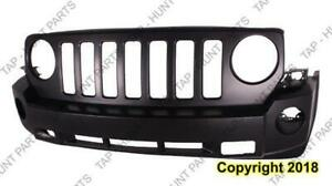 Bumper Front Primed With Tow Without Chrome CAPA Jeep Patriot 2008-2010