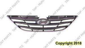 Grille Matt Black With Chrome Moulding Exclude Hybrid  Hyundai Sonata 2011-2013