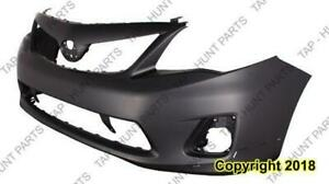 Bumper Front S/Xrs Model With Spoiler Hole Primed  Toyota Corolla 2011-2013