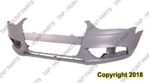 Bumper Front Without S-Line Package Without H/L Washer/Sensor Primed Gray Audi A4 2013-2016