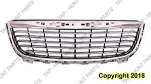 Grille Matt-Black With Chrome Frame Chrysler Town & Country 2011-2015