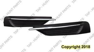 Fog Light Cover Front Passenger Side With Chrome Moulding Sedan.Convertible Chrysler 200 2011-2014