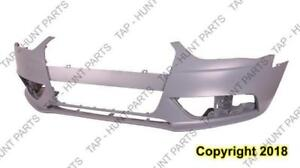 Bumper Front Without S-Line Package Without H/L Washer/Sensor Primed Gray CAPA Audi A4 2013-2016
