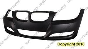 Bumper Front Without Sensor Without Head Light Wash Hole Primed CAPA BMW 3-Series 2009-2012
