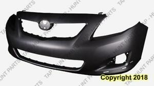 Bumper Front Primed S/Xrs Models With Spoiler Hole CAPA Toyota Corolla 2009-2010