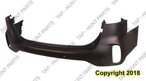 Bumper Rear Primed Withsensor Without Skid Plate Kia Sorento 2014-2015