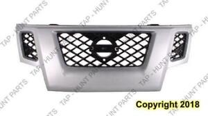 Grille With Silver Frame Nissan XTERRA 2010-2012