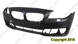 Bumper Front Primed Without M Package/S-Cam With Sensor Hole BMW 5-Series 2014-2016