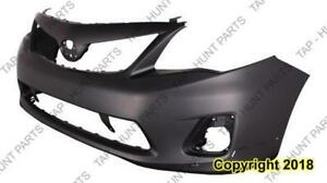 Bumper Front S/Xrs Model With Spoiler Hole Primed CAPA Toyota Corolla 2011-2013