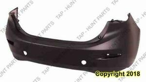 Bumper Rear Primed With Textured Lower Sedan CAPA Mazda 3 2014-2016