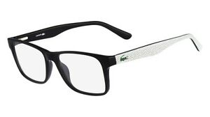 lacoste 2741 001 black full frame plastic eyeglasses 53mm