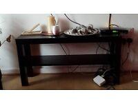 Ikea tv bench black