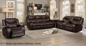 Upholstery  recliner sofa and  loveseat  in Gel Leather