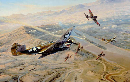 Fighting Tigers by Robert Taylor signed by five legendary Flying Tiger Aces
