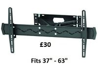 "New Brateck High Quality Large Cantilever TV Wall Bracket.Fits 37"" - 63"" Flat and Curved Screen TV's"