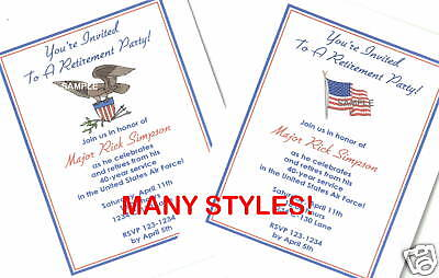 Military Retirement Invitations (20 Custom Retirement)
