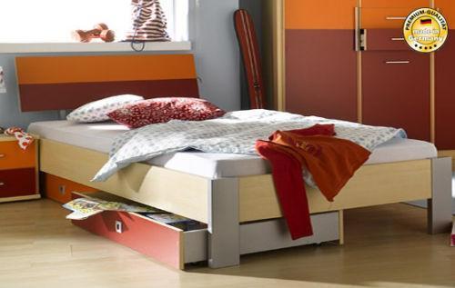 Funktionales Jugendbett aus Kiefernholz mit Stauraum Marianne