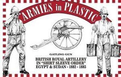 Armies in Plastic Gatling Gun Royal Artillery Shirt Sleeve Egypt Sudan Red 54mm