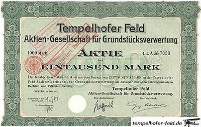 2 Huge Rare 1895 1911 Bonds 4 Tempelhof Airport Land   1 Nazi Landmark   Cv  400
