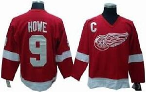 DETROIT RED WINGS GORDIE HOWE #9 CCM JERSEY Size (XL)