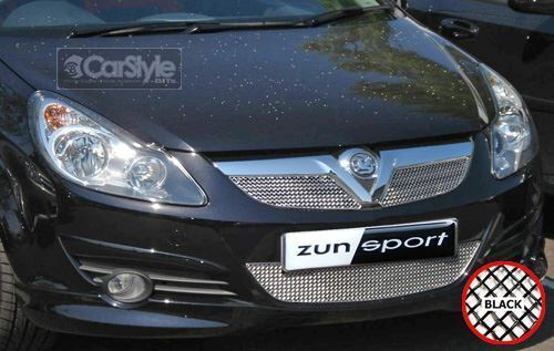 ZunSport Vauxhall / Opel Corsa D 2005 Black Steel Mesh Full Front Grille Set