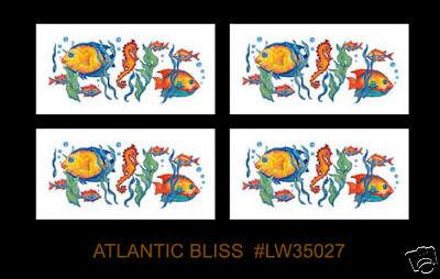 Fish Paint Transfers Wall Border ATLANTIC BLISS