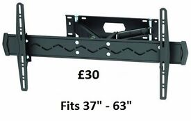 """New Brateck High Quality Large Cantilever TV Wall Bracket.Fits 37"""" - 63"""" Flat and Curved Screen TV's"""