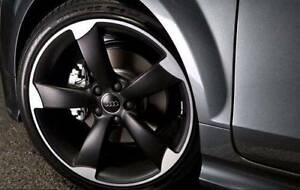 19 INCH AUDI A3 S3 BLACK TTRS ROTOR STYLE WHEELS TYRES PACKAGE Sydney City Inner Sydney Preview
