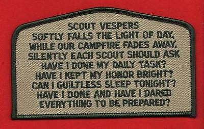 SCOUT VESPERS CSP OA FLAP Patch BSA Cub Boy Scouts of America