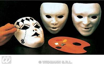 Paint Your Own Halloween Mask (Paint Your Own White Plastic Mask - Halloween Fancy Dress Masquerade Fancy)
