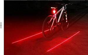 Bicycle Safety Laser light with 5 LED flashers