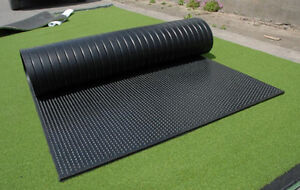 4 FT X 6 FT X 1/2 IN RUBBER FLOORING CONTAINER SHOP RUBBER MAT