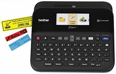Brother Pc-connectable Label Maker With Color Display - 1.18 Ins Mono Ptd600