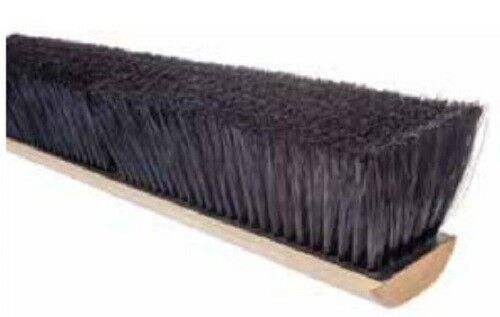 "Magnolia Brush #2018 18"" Black Polypropylene Professional Series Push Broom Head"
