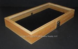 glass top jewelry display case