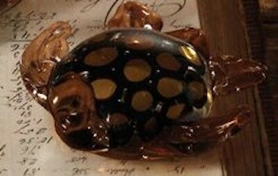 Two's Company - Galapagos Glass Turtle - Golden Brown for sale  Shipping to Canada
