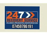 Adams 24/7 car van bike recovery breakdown
