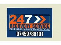 Adams 24/7 cheap car bike van recovery breakdown service