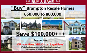 Special VIP OFFER Detached Brampton Homes & Detached Brampton !!