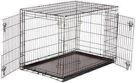 (New) AmazonBasics Double-Door Folding Metal Dog Crate, 122 cm