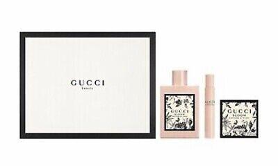 GUCCI BLOOM Nettare Di Fiori 3.4 OZ Perfume Gift Set ~ 3 pc New Boxed