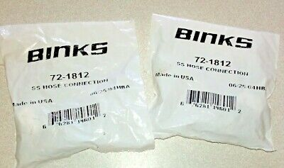 Binks 72-1812 38 Ss Hose Connection Lot Of 2