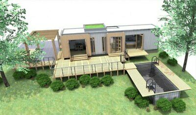 1 Bd1 Bth 320 Sq Ft Luxury Landscaped Shipping Container Home